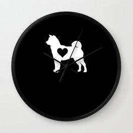 Shiba Inu Heart Shiba Inu Dog Lover Japanese Puppy Gift Wall Clock