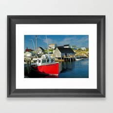 The Boat Harbour Mist in Peggy's Cove Framed Art Print