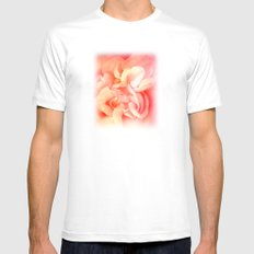Bed of Roses White Mens Fitted Tee MEDIUM