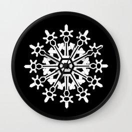 Snowflake Medallion B&W Wall Clock
