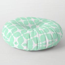 Mid Century Modern Star Pattern Mint Green 2 Floor Pillow