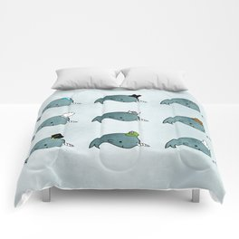The many hats of Narwhals Comforters