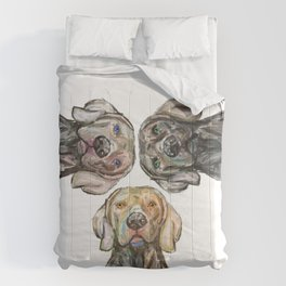 Triple Hunting Dogs Comforters