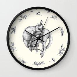 Sleeping Joeys Wall Clock