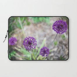 Purple Allium Laptop Sleeve