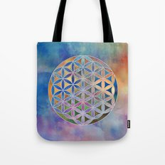The Flower of Life in the Sky Tote Bag