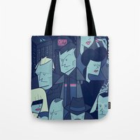 blade runner Tote Bags featuring Blade Runner by Ale Giorgini