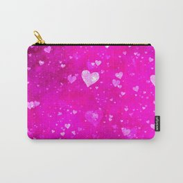 Shiny glitter hearts Carry-All Pouch