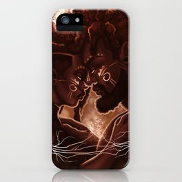Synchronicity: Kemetic Heart Strings of the Divine iPhone Case