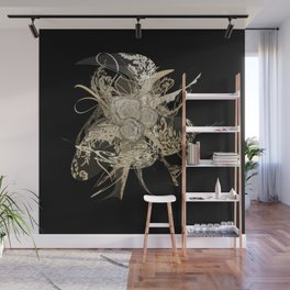 50 Shades of lace Gold Black Wall Mural