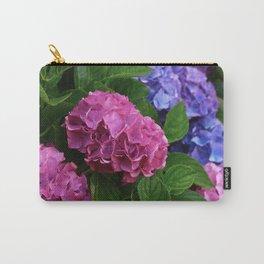 Abundant Rose Blue Lilac Pink Hydrangea Hortensia Flower Carry-All Pouch