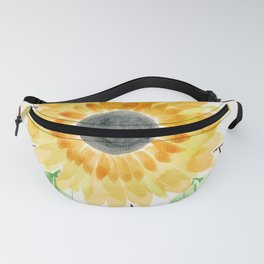 Fall Watercolor Large Sunflower Fanny Pack