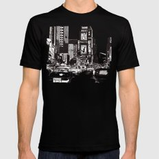 New York New York Black LARGE Mens Fitted Tee