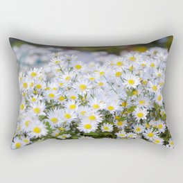 Daisy flower Asteraceae, daisy, beautiful view, daisy hill, View Poster, Canavas Print, Wall Hanging Rectangular Pillow