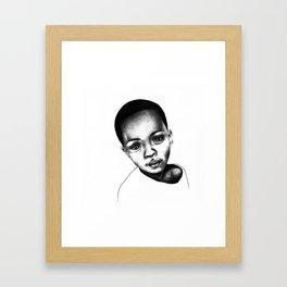 African Child Framed Art Print