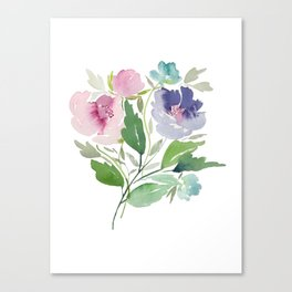 Purple and Pink Peonies Canvas Print