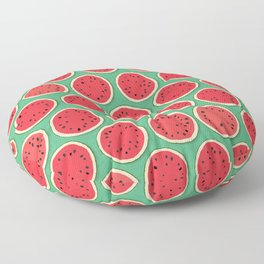 watermelon polka green Floor Pillow