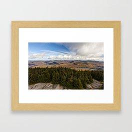 on top of blue mountain Framed Art Print