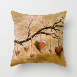 Der Liebesbaum (in Acryl) Throw Pillow