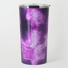 Planet Neptune Symbol. Neptune sign. Abstract night sky background. Travel Mug