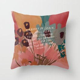 Wrapped in. grace Throw Pillow