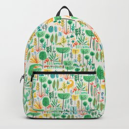 Jungle life with golden unicorn Backpack