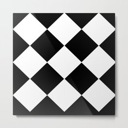 HARLEQUIN BLACK AND WHITE Metal Print