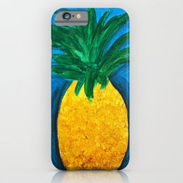 Pineapple Abstract Blue  iPhone Case