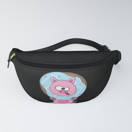 Funny Donout Pig kids Shirt Fanny Pack