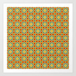 Orange stars Art Print