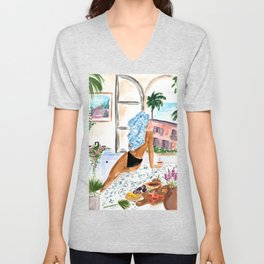 A Peaceful Morning Unisex V-Neck