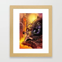 Red Sonja Framed Art Print