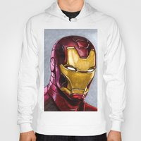 ironman Hoodies featuring IronMan by Morales