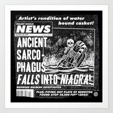 Freaky World News 2 Art Print