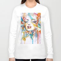 marylin monroe Long Sleeve T-shirts featuring Marylin Monroe by Maria Zborovska