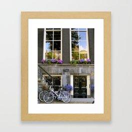 Shades of Purple in Amsterdam Framed Art Print