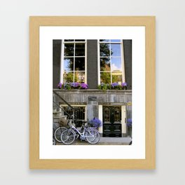 Shades of Purple in Amsterdam Framed Art Print