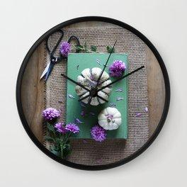 Mums and Pumpkins - Fall Favorites Wall Clock