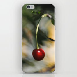 Abstract photograph of red cherry. iPhone Skin