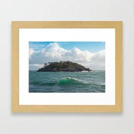 PORTRAIT OF SECRETARY ISLAND, BC TROPICS 2K16 Framed Art Print