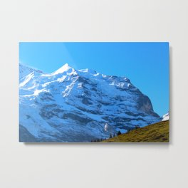 Ascending to New Heights – Snow-Capped Alps Metal Print