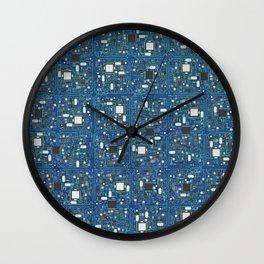Blue tech Wall Clock
