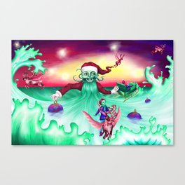 Coming home for Christmas Canvas Print