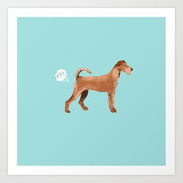 Irish Terrier farting dog cute funny dog gifts pure breed dogs Art Print