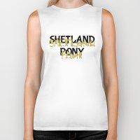 pony Biker Tanks featuring Shetland Pony by mailboxdisco