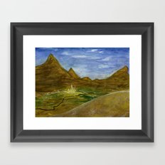 Fictional Landscape III Framed Art Print