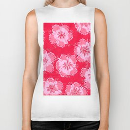 Cranberry Lace Rose Biker Tank