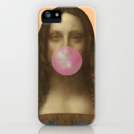 Salvator Mundi Chewing Bubblegum (Leonardo da Vinci)  iPhone Case