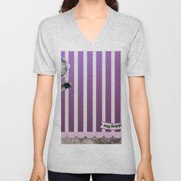 Purple adventure Unisex V-Neck