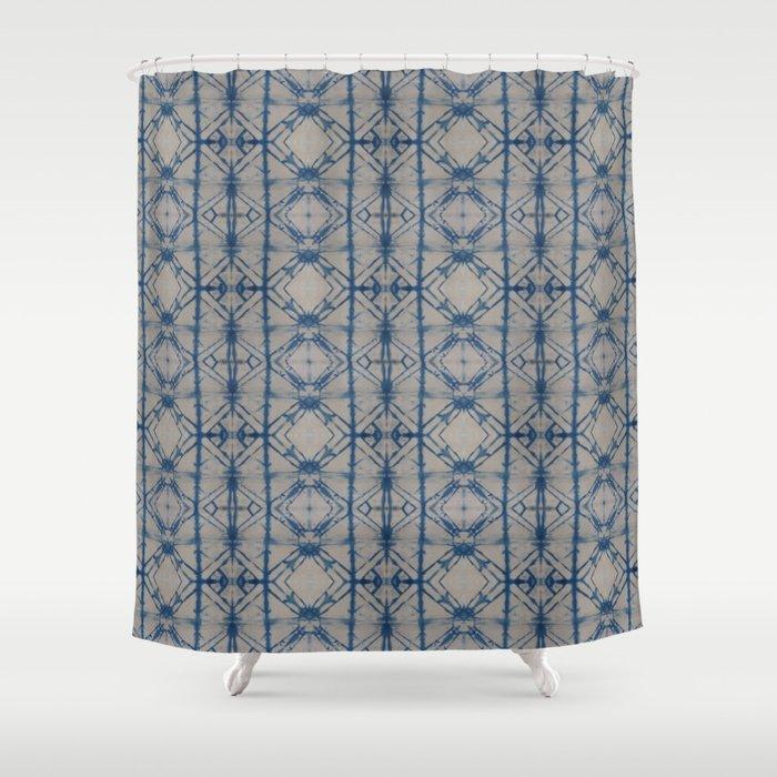 Charmant Shibori Mirror Shower Curtain
